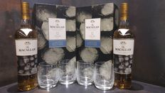 Macallan 12 Fine Oak New Year 2017 700ml Limited Edition Set x2 with 4 Glasses