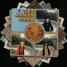 Guitar lot of eight albums by The James Gang, Joe Vitale, Rick Derringer and James Walsh
