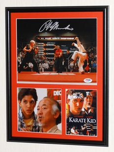 The Karate Kid - Ralph Macchio / The Karate Kid originally hand signed photo - Deluxe framed + Certificate of Authenticity from PSA