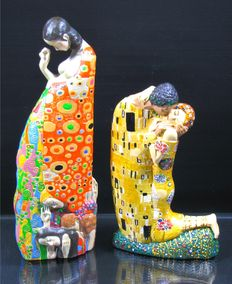 Gustav Klimt for Mosseion - 2 'Parastone' sculptures Hope and The Kiss