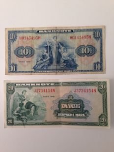 Allemagne - 10 and 20 mark 1948 - Rosenberg 238 and 239 - Pick 5a and 6a