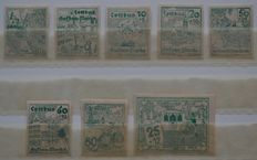 German local release 1945 - Cottbus proof copies - Michel 3, 6, 7, 10, 11 and 14/16