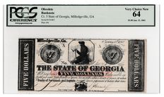 USA - Obsolete Currency - 5 dollars 1862 - Milledgeville, Georgia