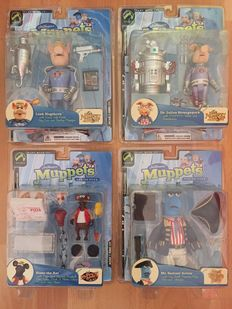 The Muppet Show 25 Years - Palisades Toys - series four - 4x figures - Rizzo, Samuel, Link, Dr Julius