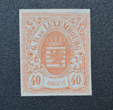 Luxembourg 1859/1880 – selection of verified issues –  Mi 4, 5, 11, 12, 21, 22, 26, 36, 39A