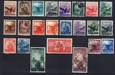 Italy 1945-54 – Lot of stamps – Italian Republic – Wheel period