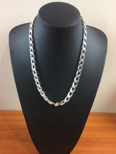 Heavy silver gourmet necklace of 925 kt.