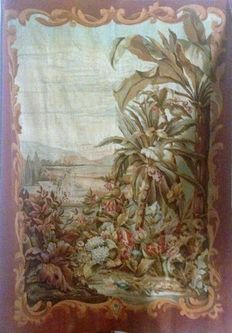 Aubusson - an exotic verdure landscape tapestry - France - 19th century
