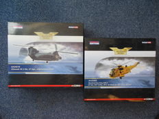 Chinook HC2 Helicopter & Westland Sea King HAR.3 Helicopter. Die-cast models.