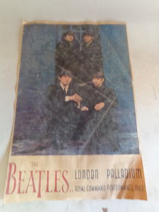 The Beatles Old Concertposter London Palladium 1963