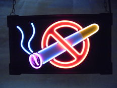 Neon light - NO SMOKING sign - late 20th century