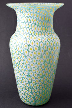 Campanella Glassworks - Millefiori vase with Murrine