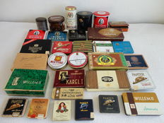 Old cigars and pipe tobacco boxes-various kinds