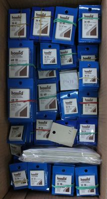 Accessoires - Hawid Mounts, black- 150 packages in 16 sizes.