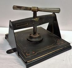 Cast iron book press - Netherlands - ca. 1900