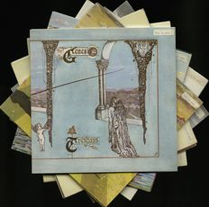 Genesis career oversight [1970 - 1983] - Lot of twelve albums incl. Trespass, Nursery crime, Foxtrot, Selling England by the pound, The lamb lies down on Broadway, A trick of the tail, Wind & wuthering,  And then there were three..., Seconds out, Duke, Ab