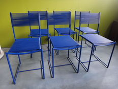 Giandomenico Belotti for Alias - Six 'Spaghetti' chairs