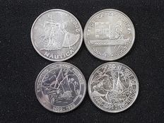 Portugal - 3 Silver Coins of 1000 Escudos and 1 Silver 10 Euro Coin