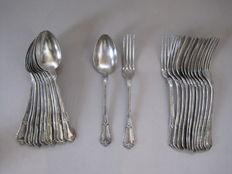 Cutlery - 6 people (12 pieces) - 200s silver plated