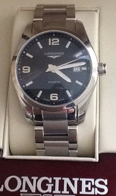 "Longines ""Conquest Classic"" - luxury  men's watch – new in box."