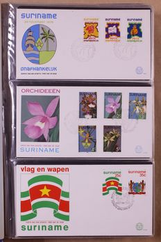 Republic of Suriname 1975/1995 - Collection FDCs in two Importa albums.