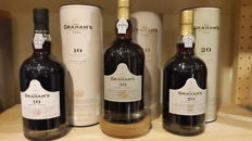 Graham's 30 year old Tawny Port, Graham's 20 year old Tawny Port, and Graham's 10 year old Tawny Port
