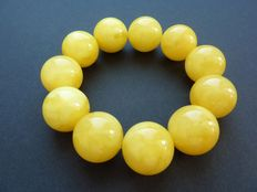 Baltic Amber bracelet, milky yellow colour