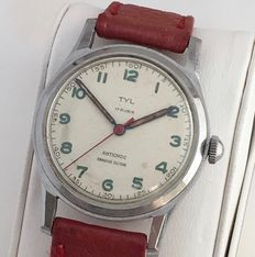 TYL 17 rubis mens dress watch -- 1950 -- stunning colour combination -- runs perfectly -- no reserve price