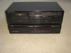 Harman/Kardon  CD speler HD-7500 + Tape deck TD-202.