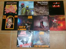 Black Sabbath, Ozzy Osbourne collection of 12 records