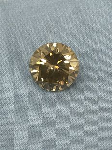 1.31 ct Round Brilliant  Fancy Yellow VS1  AIG lab