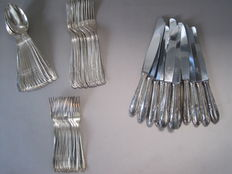 Cutlery - Solingen - 47 pieces / for 6 people - 90s silver plating