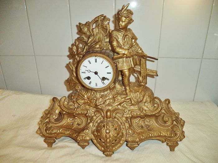 French clock with hunter - approx 1880