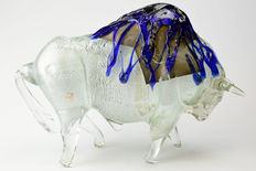 Gian Carlo Signoretto (Eugenio Ferro & Co.)- Silver Leaf Bull Sculpture
