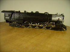 Tenshodo H0 - Great Northern steam locomotive (4-8-4) with 6-axis pulled Vanderbilt oil tender - brass