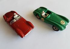 Dinky Toys-France - Scale 1/43 - Lot with Aston Martin DB3S No.506 and Maserati No.22a