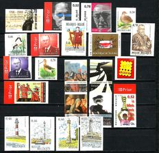 Belgium, 2006, all imperforate stamps and blocks with back numbers between OBP 3470 and 3537