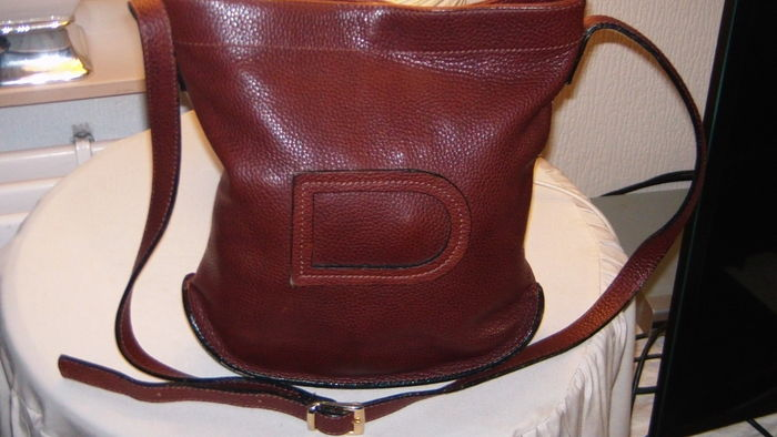 Delvaux Brussels - Borsa a tracolla Pin 'D', in pelle