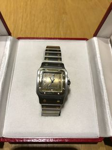 Cartier Santos Galbee – men´s wristwatch – 1990s