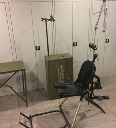 Complete military dental unit, including chair,  storable in transport crate