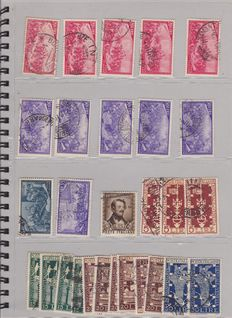 "Italy, 1948-1953, assortment of stamps from the Italian Republic. ""Wheel"" period"