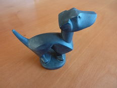 Dachshund of bronze