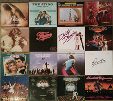 Huge collection (15 albums/21 LPs)  of Rock Operas and other Musical soundtracks: The Wiz, Jesus Christ Superstar, Hair, Saturday Night Fever, Grease, Dirty Dancing, Fame, Evita, Absolute Beginners, Bilitis and many more! Bonus: DVD Dirty Dancing + Evita