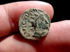 Roman Empire - Barbarous Radiates. Late 3rd century - 5th century A.D. Imitative from Victorinus bronze antoninianus (2,60 g., 17 mm). Minted probably in Gaul or Germany.