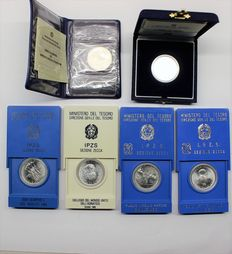 Republic of Italy - 500 Lire, 1981/1987 (6 coins) - Silver