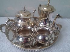 Coffee tea set silver plated