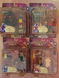 The Muppet Show 25 Years - Palisades Toys - series two - 4x figures - Gonzo, Fozzie, Floyd Pepper, Crazy Harry