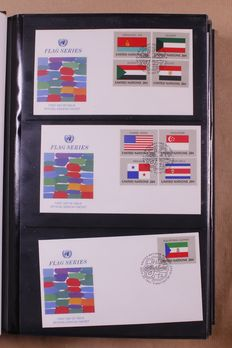 United Nations, New York 1965/2005 - batch of 600 FDCs in 4 albums and loose sheets.