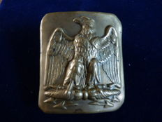 Original copper belt buckle with imperial eagle