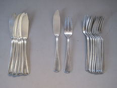 B. Wiskemann - fish cutlery - 18 pieces / 9 people